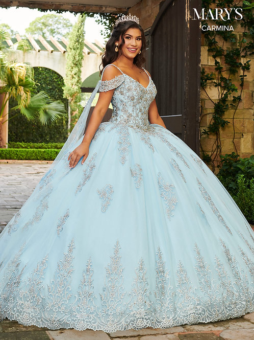 Carmina Quinceanera Dresses In Light Blue Or Red Color