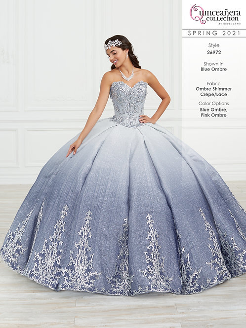 OMBRE GLITTER QUINCEANERA DRESS BY HOUSE OF WU 26972