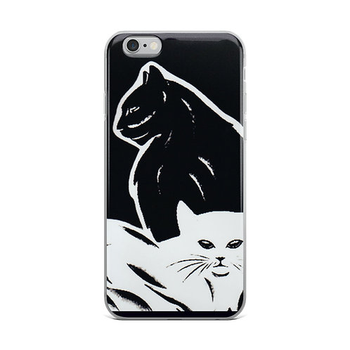 Cats iPhone Case Black cat White Cat Lovers Gifts Witchy Gift