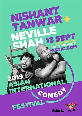 Asian International Comedy Festival: Nishant Tanwar + Neville Shah [Postpone]