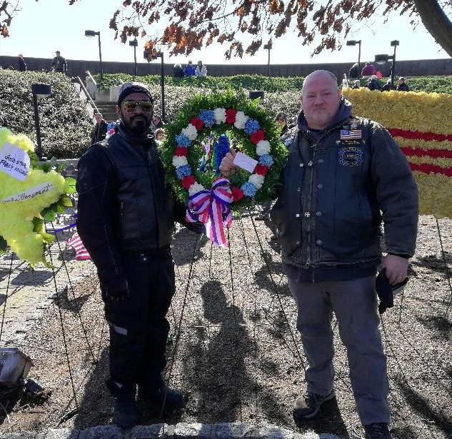 Rajiv and Vinnie Present Wreath