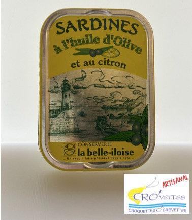 539. Sardines - Sardines à l'huile d'olive et citron 69gr