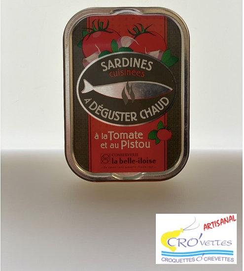 550. Sardines - Sardines cuisinées à déguster chaud à la tomate et pistou 115gr