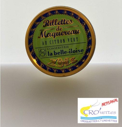 585. Tartinables - Rillettes de maquereaux au citron vert 60gr