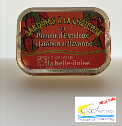 557. Sardines - Sardines Luzienne (jambon de Bayonne et piment d'Espelette) 115g