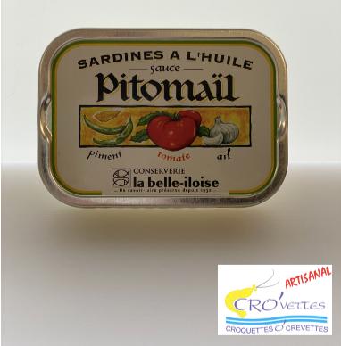 546. Sardines - Sardines à la sauce pitomail (piment, tomate et ail) 115gr