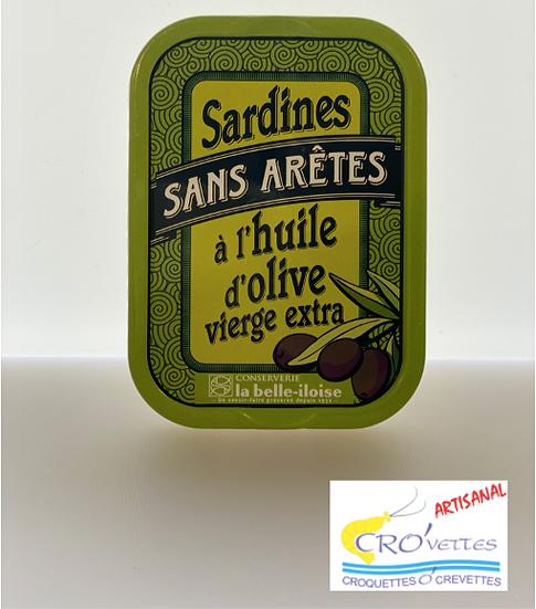 556. Sardines - Sardines entières sans arêtes à l'huile d'olive vierge extra