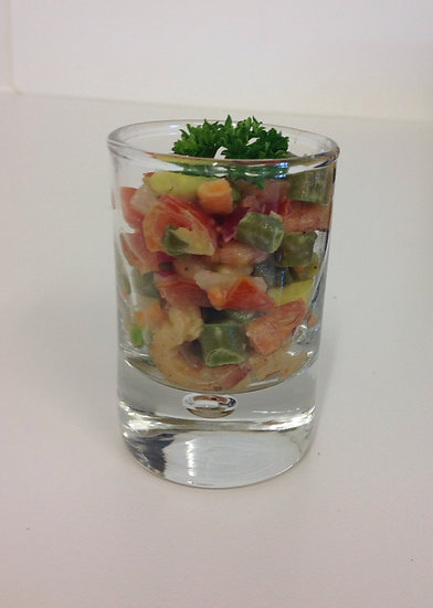 126. Verrine de Salade de Crevettes grises