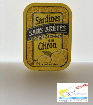 554. Sardines - Sardines entières sans arêtes à l'huile d'olive vierge et citron