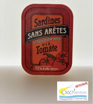 555. Sardines - Sardines entières sans arêtes à l'huile d'olive vierge et tomate