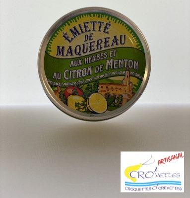 510. Maquereaux - Emiettes de maquereaux aux herbes et citron de Menton 80gr