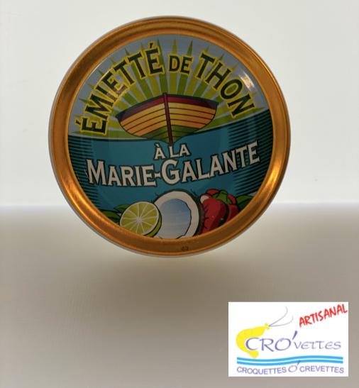 598. Thon - Emiettes de thon Marie-Galante (noix de coco, citron vert) 80gr