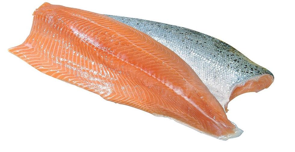 380. Filet de saumon frais sauvage d'Ecosse avec peau