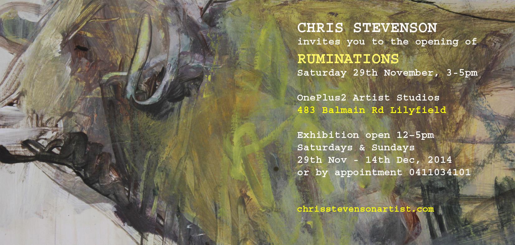 Ruminations Invitation