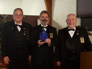 Past Master John Weil Presented with The Al Huffer Award.