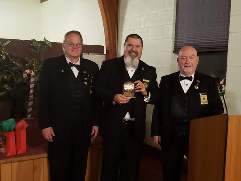 Brother Phil Adkins Presented With Mason of The Year Award.