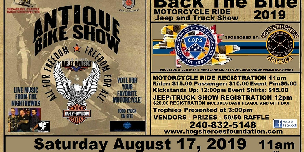 1st Annual Back The Blue Ride