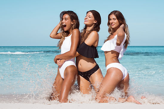 Anna Herrin, Hannah Stocking and Carmella Rose for Naluna Swim