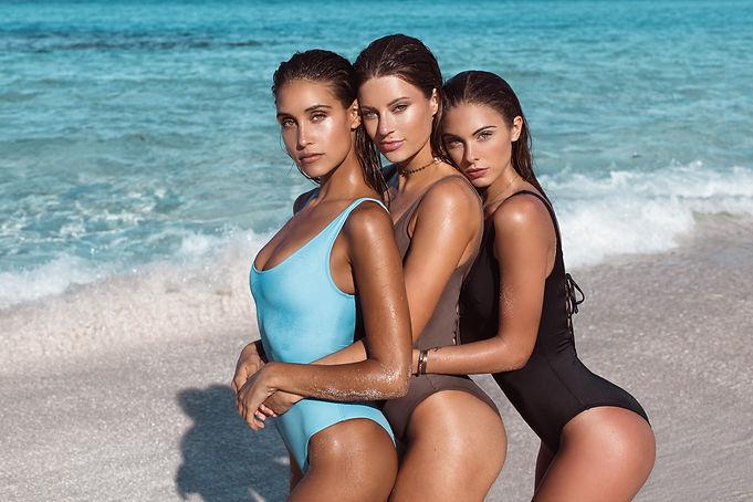Anna Herrin, Hannah Stocking and Carmella Rose for Naluna Swim