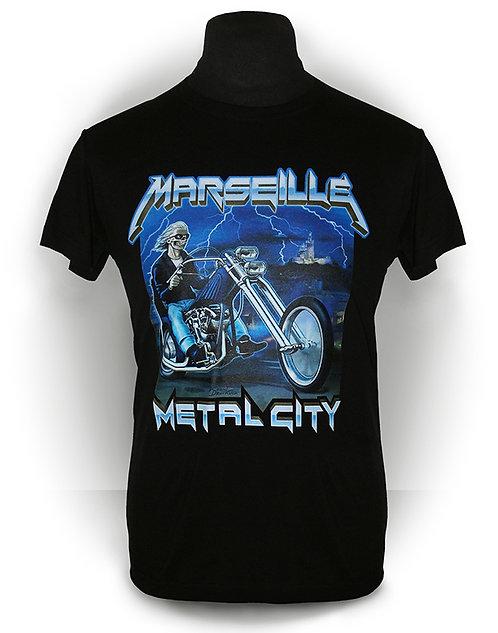 T-shirt aperçu recto / Kount Drockula / Marseille Metal City / Zombie Biker Ride Lightning Horror Hard Rock Heavy Metal