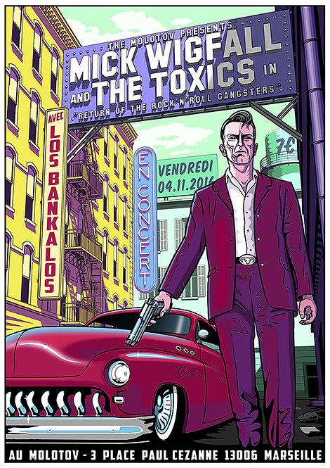 Aperçu graphisme / Kount Drockula / Mick Wigfall & the Toxics / Molotov / Gangster Custom Rock'n'Roll