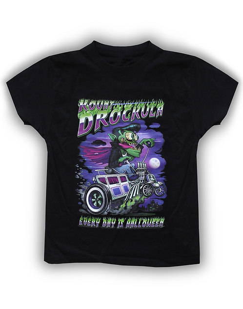 T-shirt aperçu recto / Kid Drockula / Halloween Hot Rod / Corbillard Vampire Weirdo Psychobilly Horror Monster