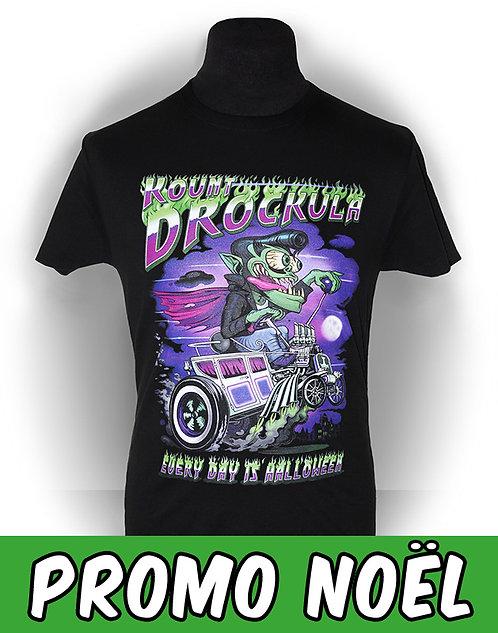 T-shirt aperçu t-shirt/ Kount Drockula / Halloween Hot Rod / Corbillard Vampire Weirdo Psychobilly Horror Monster