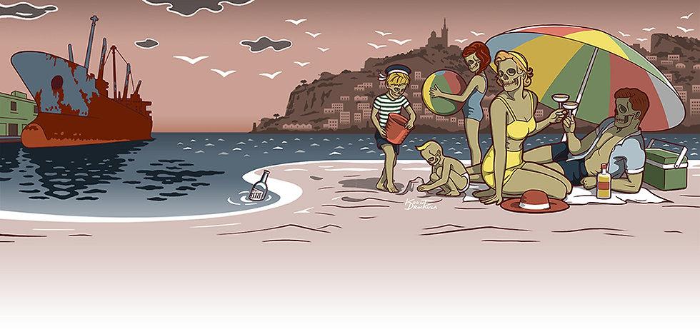 Kount Drockula / Zombies en famille à la plage