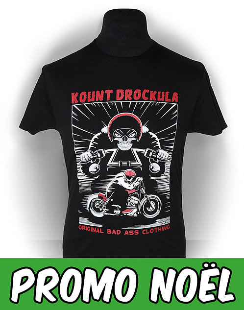 T-shirt aperçu recto/ Kount Drockula / Skull Chopper / Zombie Ghost Biker Custom Motorcycle Horror Rock'n'Roll