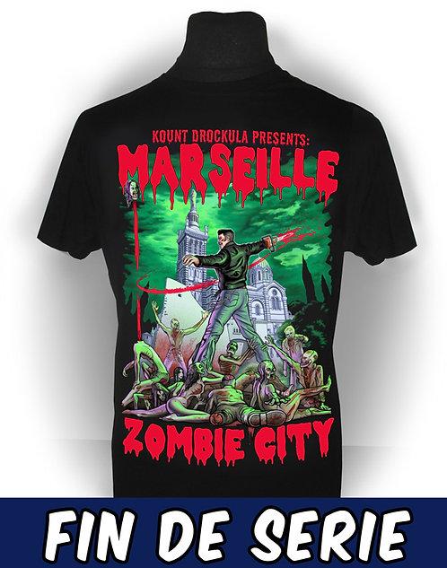 T-shirt aperçu recto / Kount Drockula / Marseille Zombie City / Evil Dead Horror Psychobilly Rock'n'Roll