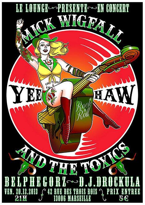 Aperçu graphisme / Kount Drockula / Mick Wigfall & the Toxics / Yahoo Pinup Rodeo Tattoo Double Bass Rockabilly Country