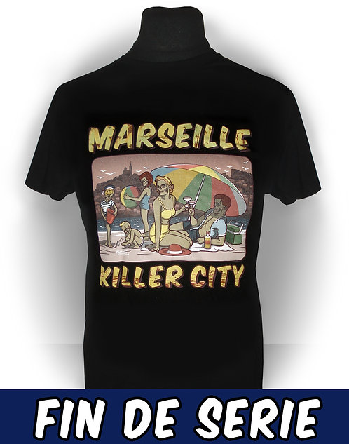 T-shirt aperçu recto / Marseille Killer City / Vintage Famille Zombie Plage Psychobilly Rock'n'Roll