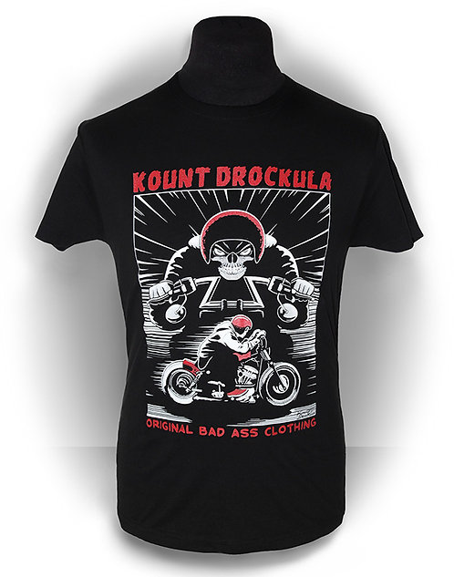T-shirt aperçu recto/ Kount Drockula / Skull Chopper / Zombie Ghost Biker Custom Motorcycle Horror Rock'n'Roll