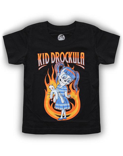 T-shirt aperçu recto / Kid Drockula / Doll / Zombie Girl Flames Voodoo Pychobilly Rock'n'Roll