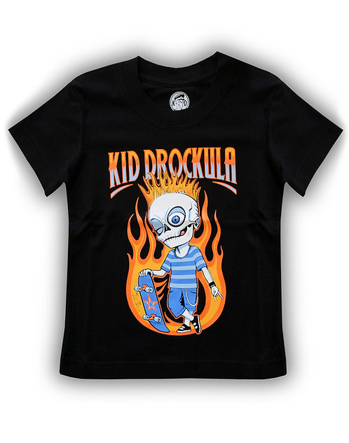 T-shirt aperçu recto / Kid Drockula /  Skater boy / Zombie Flames Pychobilly Punk Rock