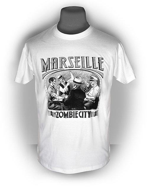 T-shirt aperçu recto / Kount Drockula / Partie de Cartes / Marseille Marius Pagnol Pastis Zombie Vintage