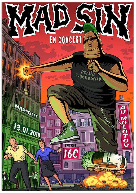 Aperçu graphisme / Kount Drockula / Mad Sin / Le Molotov / Monster Giant Horror Psychobillybilly