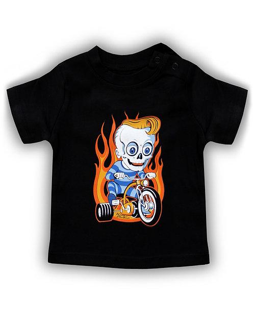 T-shirt aperçu recto/ Kount Drockula / Baby / Zombie Flames Custom Tricycle Pychobilly Rock'n'Roll