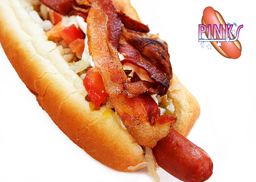 Pink's Bacon Hot Dog