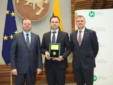 Emitlight awarded as Lithuanian product of the year 2017
