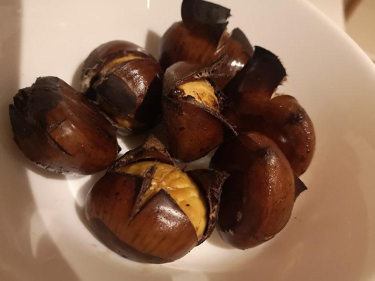 Roasted marrons