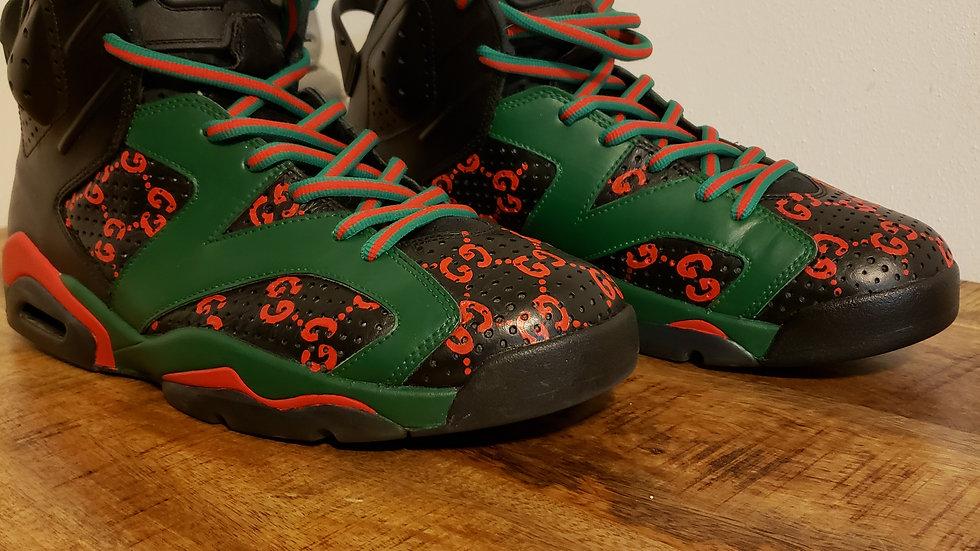 Jordan 6 Gucci Black Cat Custom