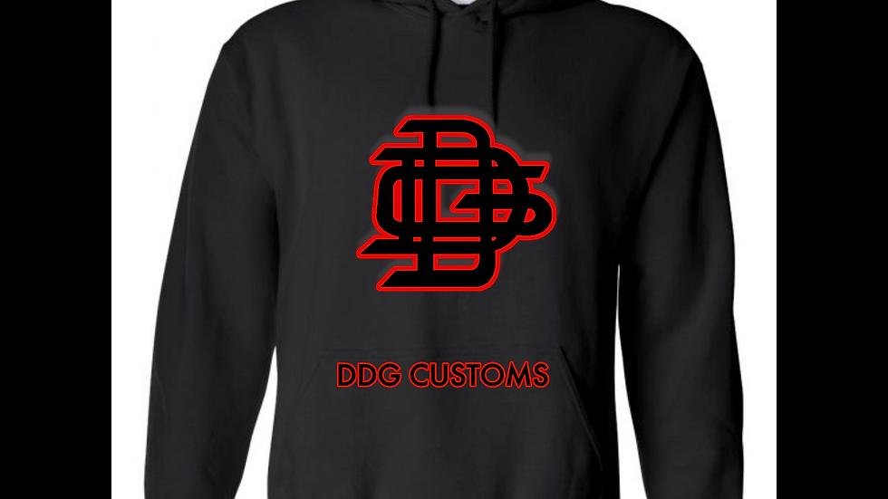 Black Hoodie (Red & Black Logo)
