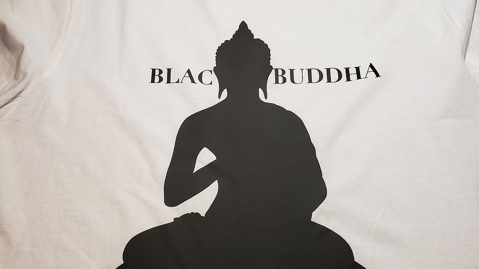 White Blac Buddha T-Shirt