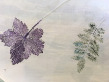 heat press and transfer dyes, a beautiful leaf print on polycotton