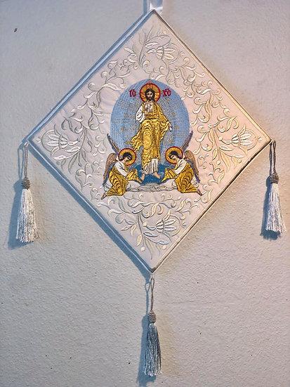 Epigonation, palitsa  for orthodox priest with icon of resurrection
