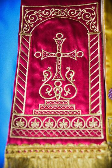 Fully embroider Gospel Bookmark