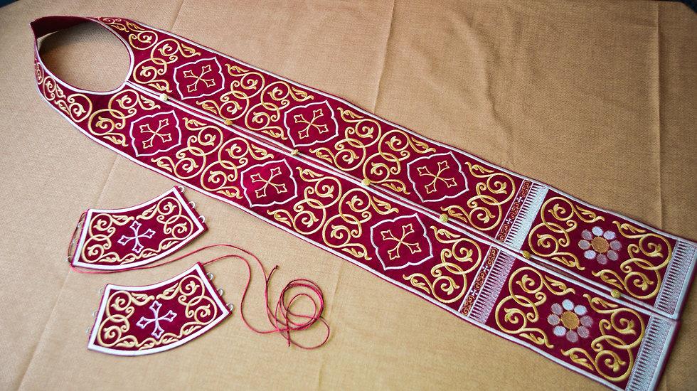 Fully Embroidered Epitrakhilion set
