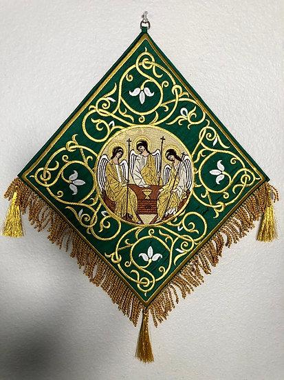 copy of Epigonation, Palitsa, green with the Icon of Holy Trinity