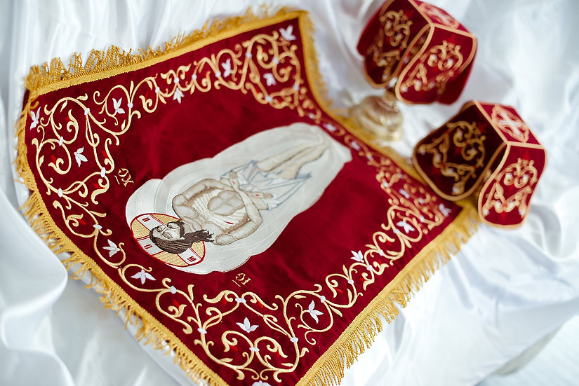 Embroidered Chalise covers, veils. Large icon!